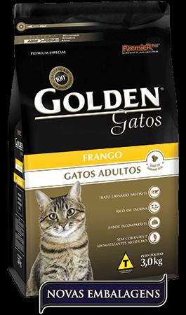 Ração Golden Gatos Adultos Frango