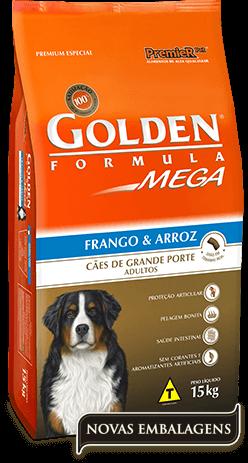 Ração Golden Mega Adultos - Frango e Arroz 15kg