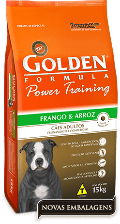 Ração Golden Power Training Adultos - Frango e Arroz  - 15kg