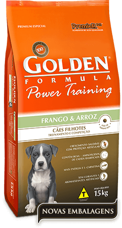 Ração Golden Power Training Filhotes Frango e Arroz  - 15kg