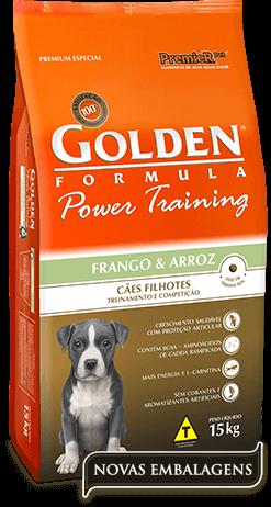 Ração Golden Power Training Filhotes Frango e Arroz  - 15kg