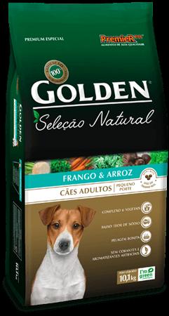 Ração Golden Seleção Natural Cães adultos de Pequeno Porte Sabor Frango & Arroz