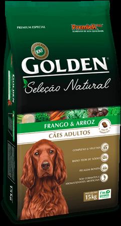 Ração Golden Seleção Natural Cães Adultos - Frango & Arroz 15kg