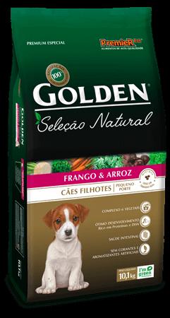 Ração Golden Seleção Natural Cães Filhotes de Pequeno Porte Sabor Frango & Arroz