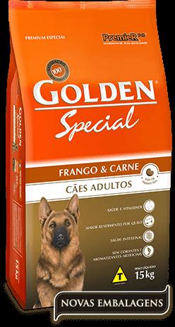 Ração Golden Special Cães Adultos Frango & Carne - 15kg