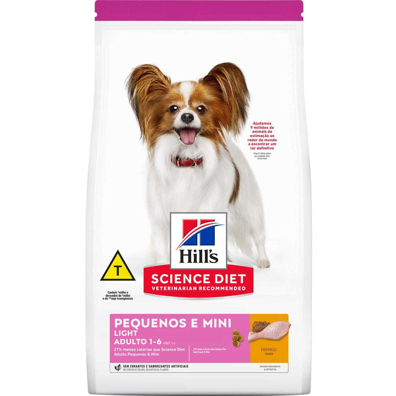 Ração Hill's Adulto Light para cães de porte pequeno e mini - 2,4 kg