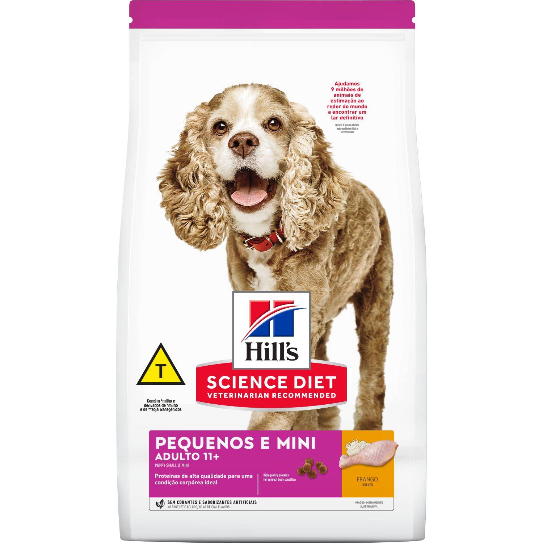Ração Hill's Sênior 11+  para cães de porte pequenos e mini - 2,4 kg
