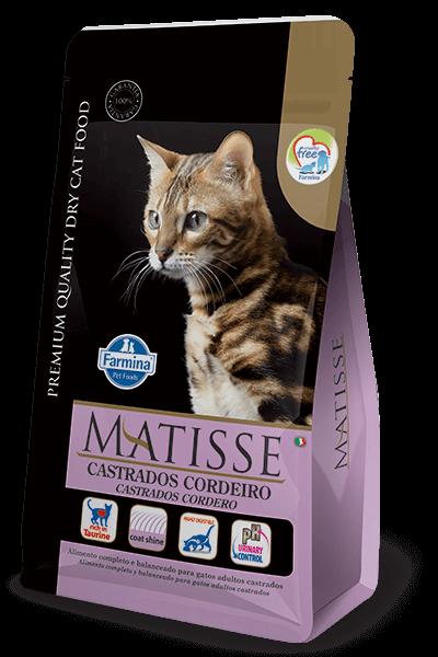 Ração Matisse Gatos Castrados Cordeiro