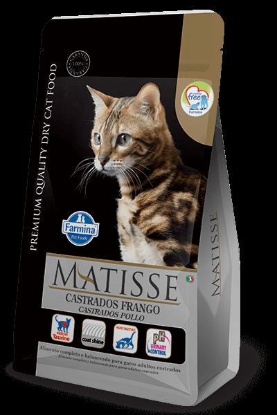 Ração Matisse Gatos Castrados Frango
