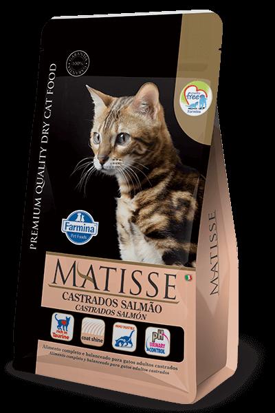 Ração Matisse Gatos Castrados Salmão