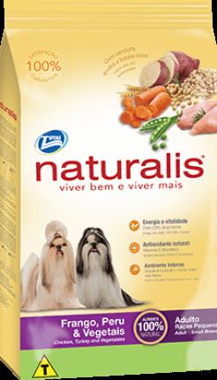 Ração Naturalis Frango, Peru e Vegetais - Cães Adultos Raças Pequenas 15 kg
