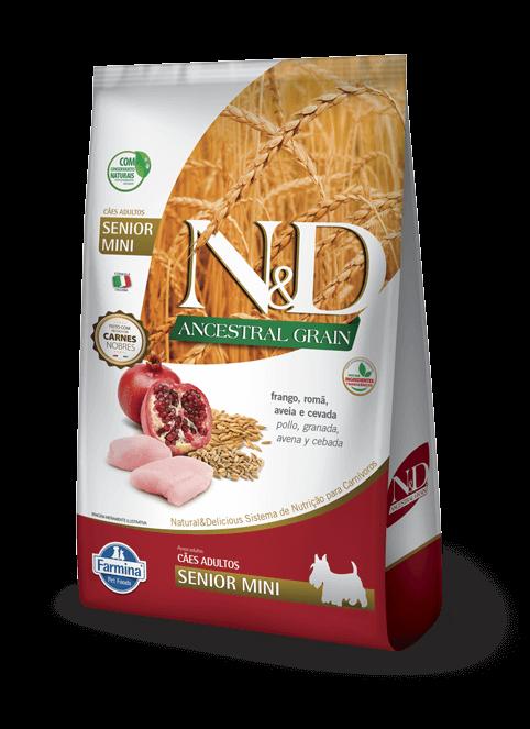Ração N&D Ancestral Grain - Frango e Romã  Sênior - para cães acima de 8 anos - 2,5 kg