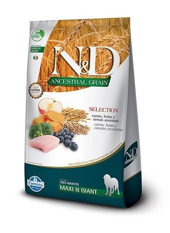 Ração N&D Ancestral Grain Selection para cães adultos de porte grande ou gigante - 15 kg