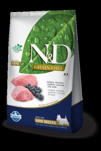 Ração N&D Natural & Delicious Prime - Cordeiro e Blueberry (Raças Pequenas)