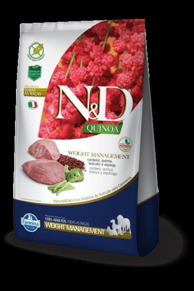 Ração N&D Natural & Delicious Quinoa Weight Management - Controle de Peso (Cães adultos)