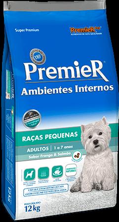 Ração Premier Ambientes Internos Cães Adultos Sabor Frango & Salmão