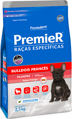 Ração Premier Bulldog Francês Cães Filhotes 2,5 kg