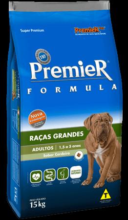 Ração Premier Fórmula Raças Grandes Cães Adultos Sabor Cordeiro - 15kg
