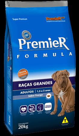 Ração Premier Fórmula Raças Grandes Cães Adultos Sabor Frango - Pacote 15 kg = grátis 1,5kg a mais.