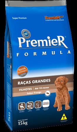 Ração Premier Raças Grandes Cães Filhotes Sabor Frango - 15 kg
