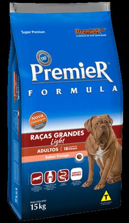 Ração Premier Fórmula Raças Grandes Light Cães Adultos Sabor Frango - 15kg