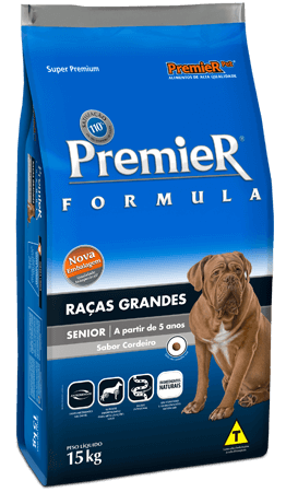 Ração Premier Raças Grandes Sênior - Cordeiro – Cães acima 5 anos - 15kg