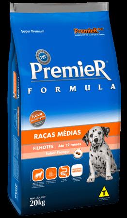 Ração Premier Fórmula Raças Médias Cães Filhotes Sabor Frango - 20 kg