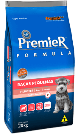 Ração Premier Fórmula Raças Pequenas Cães Filhotes - Frango
