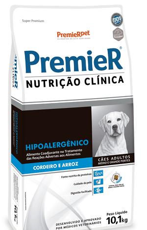 Ração Premier Nutrição Clínica Hipoalergênico para Cães de médio e grande porte