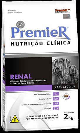 Ração Premier Nutrição Clínica Renal para Cães de todos os portes