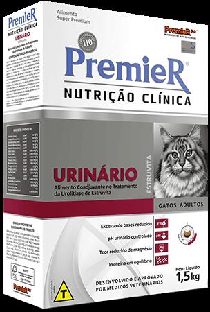 Ração Premier Nutrição Clínica Urinário Estruvita Gatos - 1,5kg