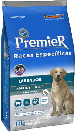 Ração Premier Raças Específicas Labrador Cães Adultos 12kg