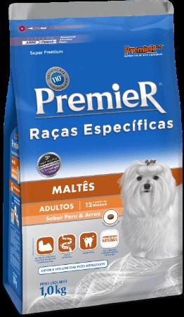 Ração Premier Maltês Cães Adultos - Sabor Peru e Arroz