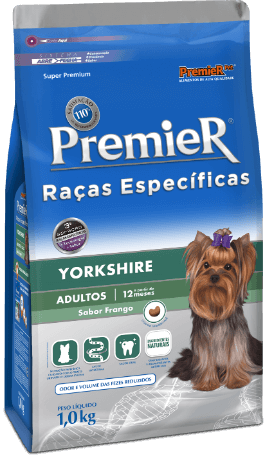 Ração Premier Yorkshire Cães Adultos - Pacote de 7,5 kg com valor promocional