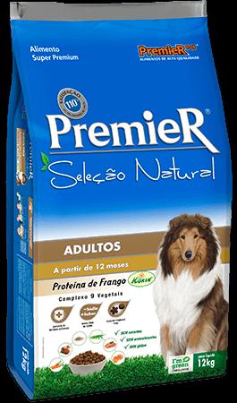Ração Premier Seleção Natural Cães Adultos Sabor Frango - 12 kg