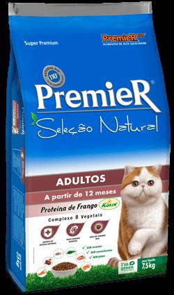 Ração Premier Seleção Natural Gatos Adultos Sabor Frango