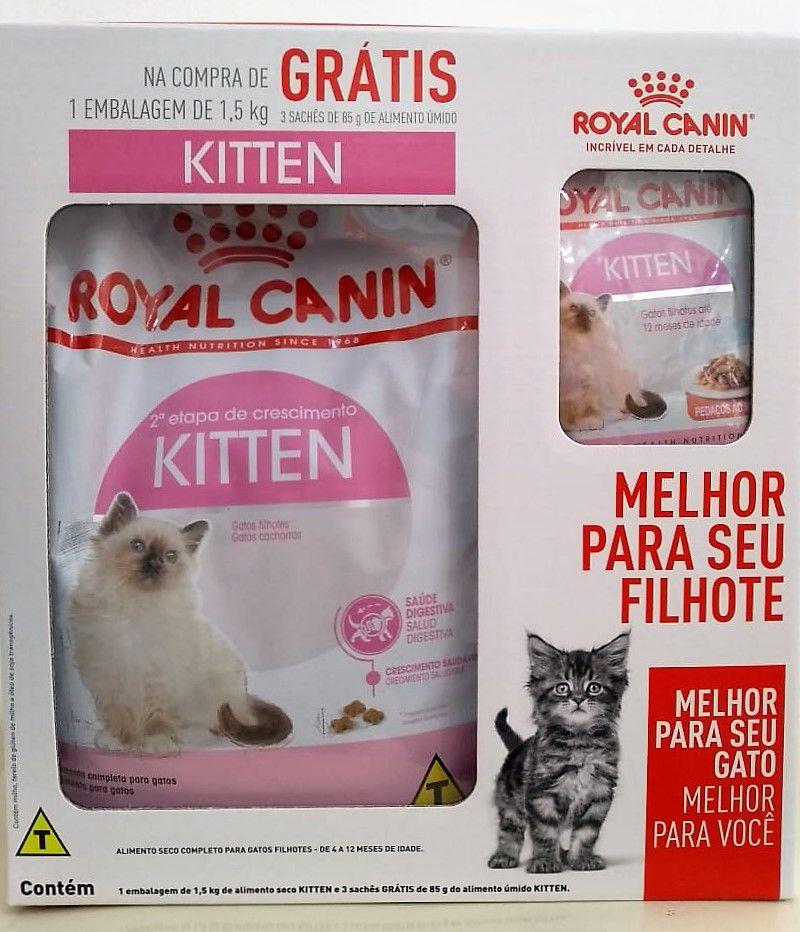 Ração Royal Canin Kitten - Gatos Filhotes - COMBO