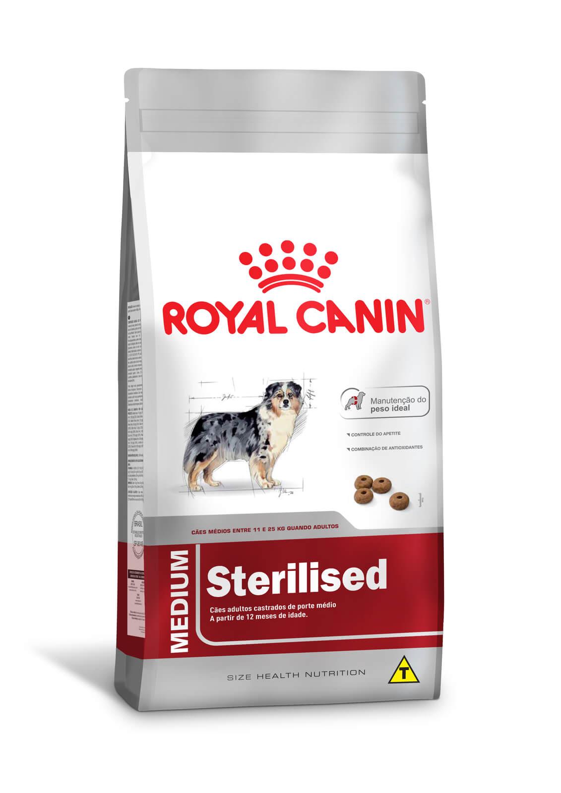 Ração Royal Canin Medium Sterilised  (Raças Médias) 15kg