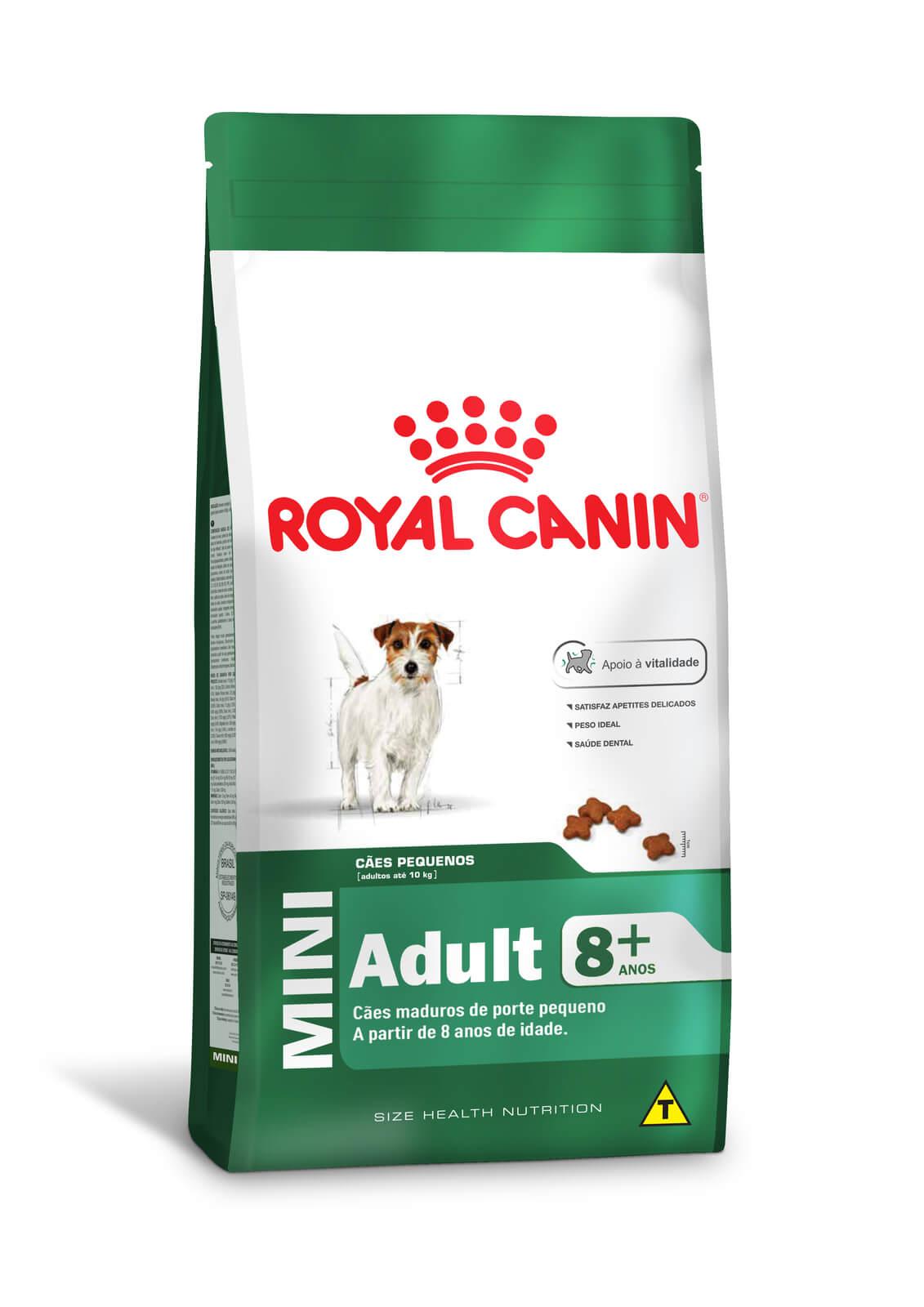 Ração Royal Canin Mini Adult 8+  - 2,5 kg