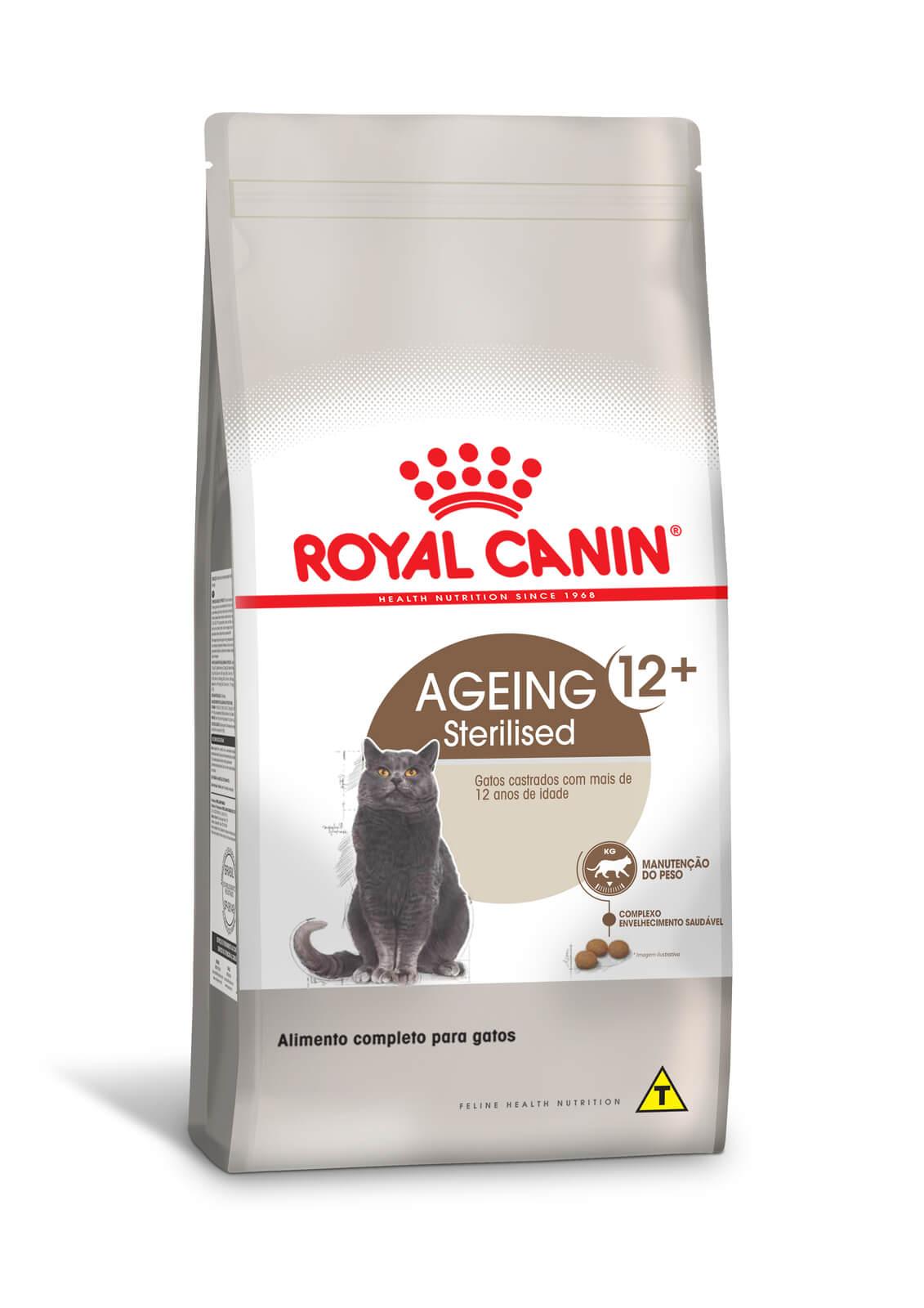 Ração Royal Canin Sterilised 12+ - Gatos Castrados - 1,5 kg