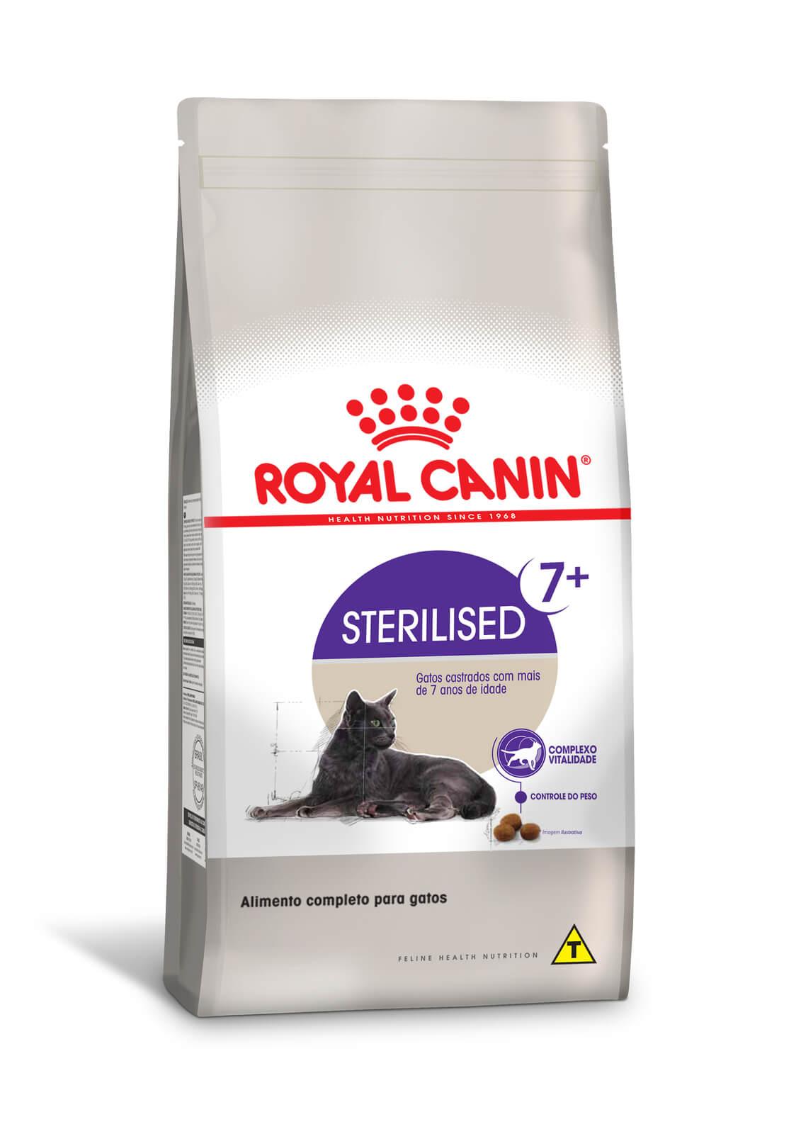 Ração Royal Canin Sterilised 7+ - Gatos Castrados