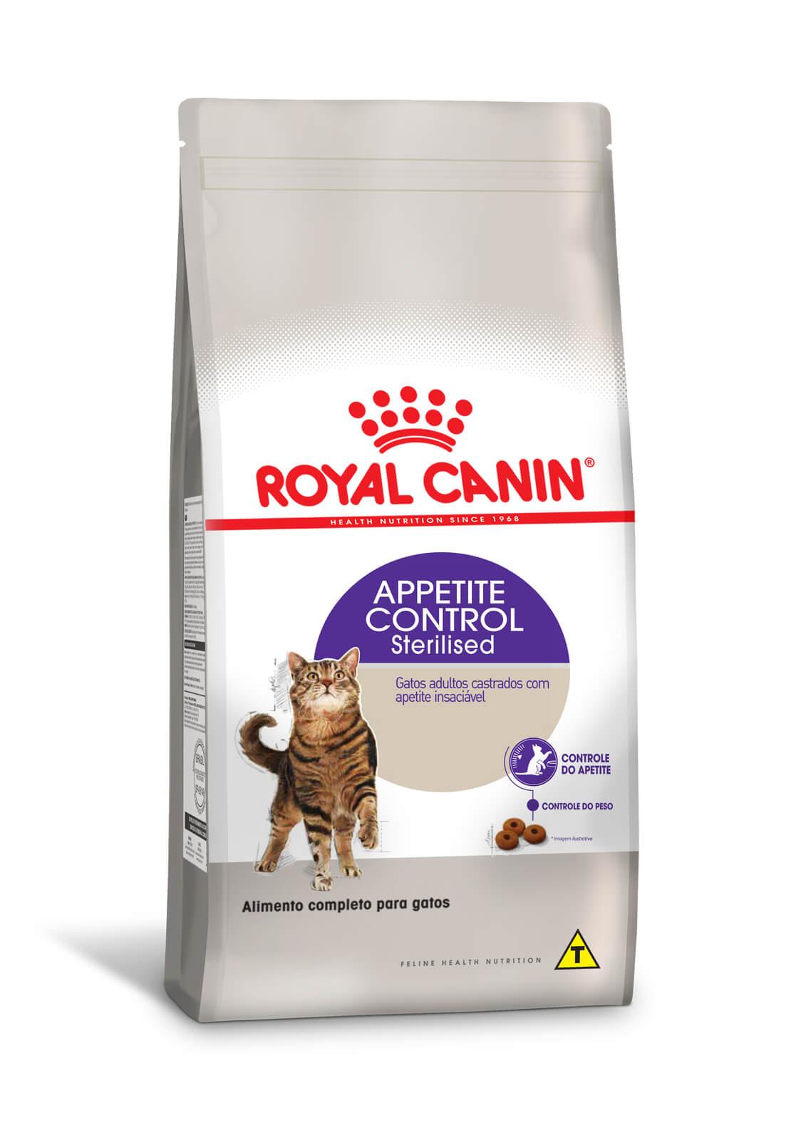 Ração Royal Canin Sterilised Appetite Control - Gatos Adultos - 1,5 kg
