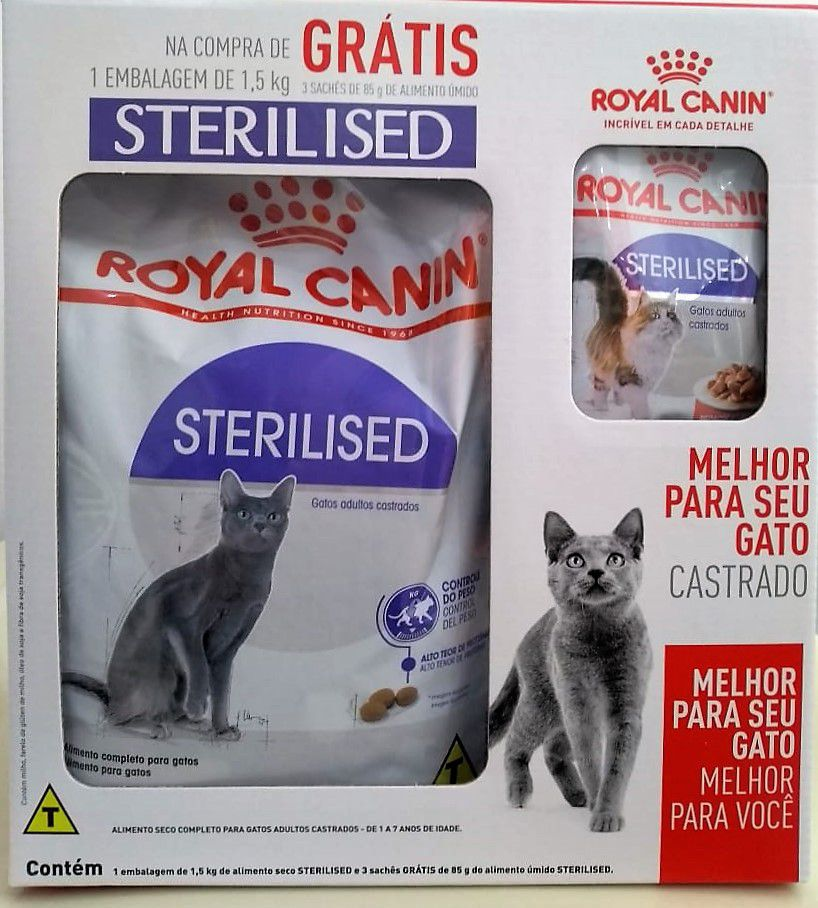 Ração Royal Canin Sterilised - Gatos Castrados - KIT