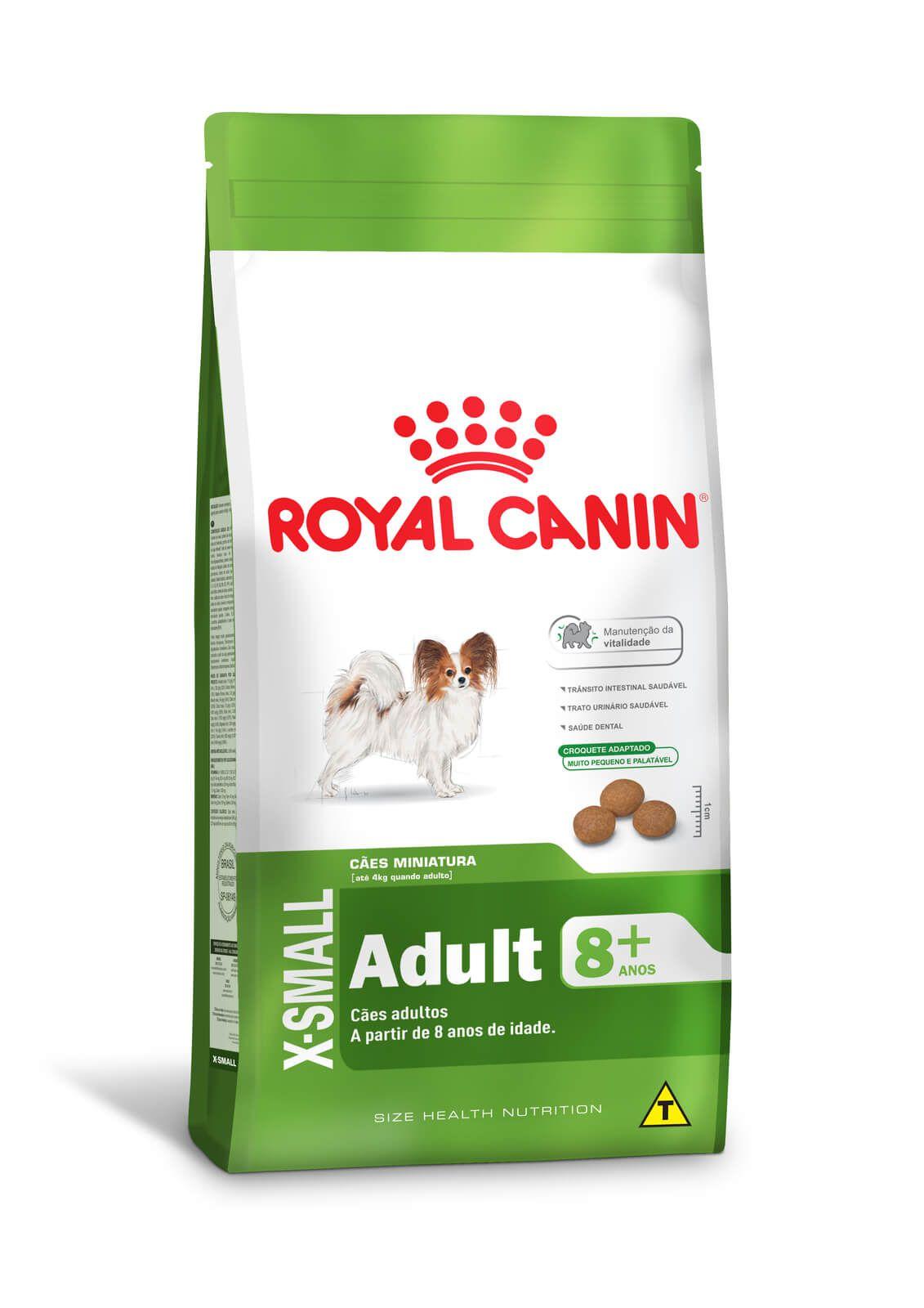 Ração Royal Canin X-Small Adult 8+  - 2,5kg
