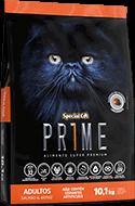 Ração Special Cat Prime Adultos Salmão e Arroz - 10,1 kg