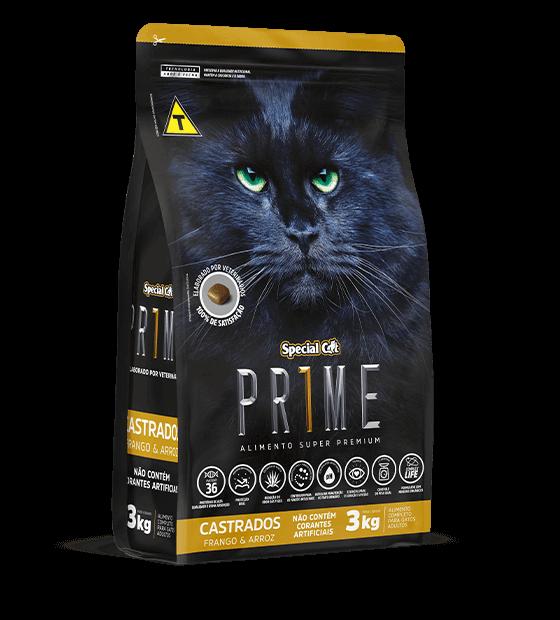 Ração Special Cat Prime Castrados Frango e Arroz - 10,1 kg