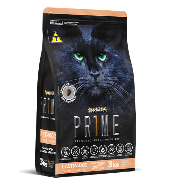 Ração Special Cat Prime Castrados Salmão e Arroz - 10,1 kg