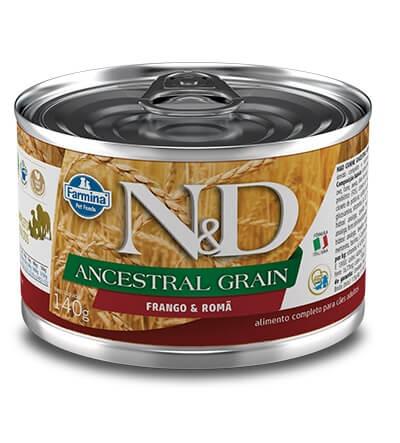 Ração Úmida em lata - Farmina N&D Ancestral Grain Frango e Romã para cães adultos - 140g
