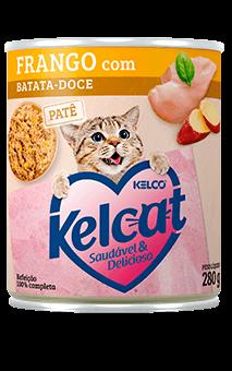 Ração Úmida Kelcat Frango com Batata - doce - 280g