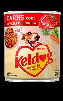 Ração Úmida Keldog Carne com Ervilha e Cenoura - 280g